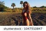beautiful young blonde woman... | Shutterstock . vector #1047510847
