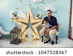hapiness and beatiful family | Shutterstock . vector #1047528367