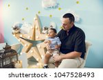 hapiness and beatiful family | Shutterstock . vector #1047528493