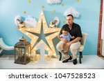 hapiness and beatiful family | Shutterstock . vector #1047528523
