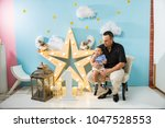 hapiness and beatiful family | Shutterstock . vector #1047528553