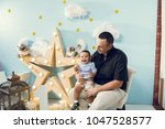 hapiness and beatiful family | Shutterstock . vector #1047528577