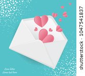 greeting card for valentine's... | Shutterstock .eps vector #1047541837