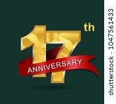 17th anniversary  aniversary  ... | Shutterstock .eps vector #1047561433