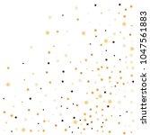 golden star confetti. fallen... | Shutterstock .eps vector #1047561883