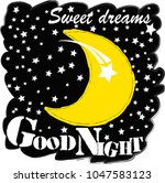 good night.moon and stars...   Shutterstock .eps vector #1047583123