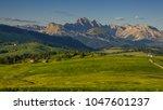 summer in alpe di siusi seiser... | Shutterstock . vector #1047601237