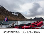 Icelandic Flag And Rubber Boat...