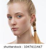 beautiful face woman  has... | Shutterstock . vector #1047611467