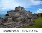 mayan archaeological site at...