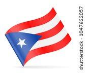 puerto rico flag vector waving... | Shutterstock .eps vector #1047622057
