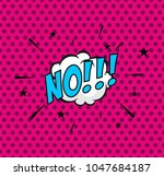 comic bubble on halftone... | Shutterstock .eps vector #1047684187