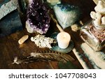 sacred space still life with... | Shutterstock . vector #1047708043