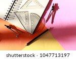 creative arrangement of... | Shutterstock . vector #1047713197