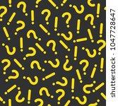 memphis theme seamless pattern. ... | Shutterstock .eps vector #1047728647