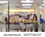 blurred image of people eating...   Shutterstock . vector #1047746137
