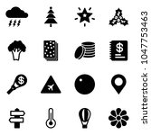solid vector icon set   storm... | Shutterstock .eps vector #1047753463