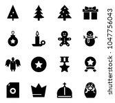 solid vector icon set  ... | Shutterstock .eps vector #1047756043