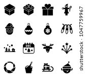 solid vector icon set   gift... | Shutterstock .eps vector #1047759967