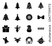 solid vector icon set  ... | Shutterstock .eps vector #1047759973