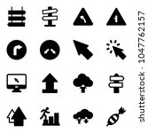 solid vector icon set   sign... | Shutterstock .eps vector #1047762157