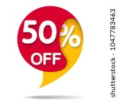 special offer sale red tag... | Shutterstock .eps vector #1047783463