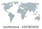 international map mosaic... | Shutterstock .eps vector #1047802453