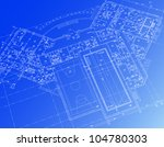 architectural background. part... | Shutterstock .eps vector #104780303