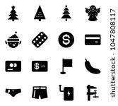 solid vector icon set  ... | Shutterstock .eps vector #1047808117