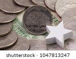 a quarter of connecticut ... | Shutterstock . vector #1047813247