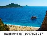 kaputas beach in the turkish... | Shutterstock . vector #1047825217