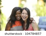 portrait of happy multiethnic... | Shutterstock . vector #104784857