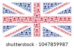 uk flag collage combined of... | Shutterstock .eps vector #1047859987