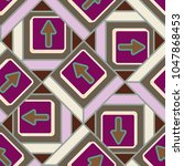 seamless abstract pattern with... | Shutterstock .eps vector #1047868453
