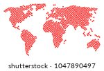 earth atlas composition... | Shutterstock .eps vector #1047890497