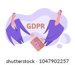 gdpr  concept vector... | Shutterstock .eps vector #1047902257