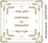 vector set of gold decorative... | Shutterstock .eps vector #104791397