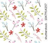 seamless floral pattern. vector ... | Shutterstock .eps vector #1047914257
