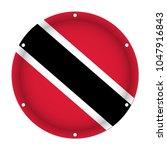 round metallic flag of trinidad ... | Shutterstock .eps vector #1047916843