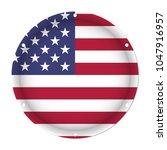 round metallic flag   united... | Shutterstock .eps vector #1047916957