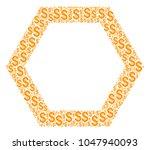 contour hexagon mosaic of... | Shutterstock .eps vector #1047940093