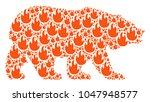 bear mosaic organized of fire...   Shutterstock .eps vector #1047948577