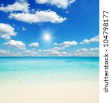 beautiful beach and tropical sea | Shutterstock . vector #104798177