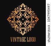 vintage ornamental logo... | Shutterstock .eps vector #1047995497
