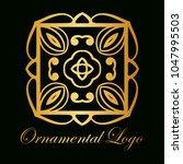 vintage ornamental logo... | Shutterstock .eps vector #1047995503