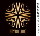 vintage ornamental logo... | Shutterstock .eps vector #1047995557
