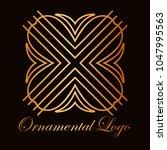 vintage ornamental logo... | Shutterstock .eps vector #1047995563
