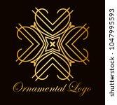 vintage ornamental logo... | Shutterstock .eps vector #1047995593