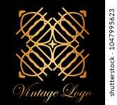 vintage ornamental logo... | Shutterstock .eps vector #1047995623