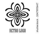 vintage ornamental logo... | Shutterstock .eps vector #1047995647